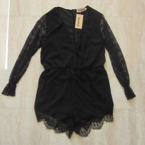 NEW Black lace romper